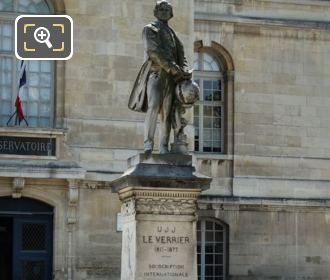 Urbain Le Verrier Statue And Stone Base