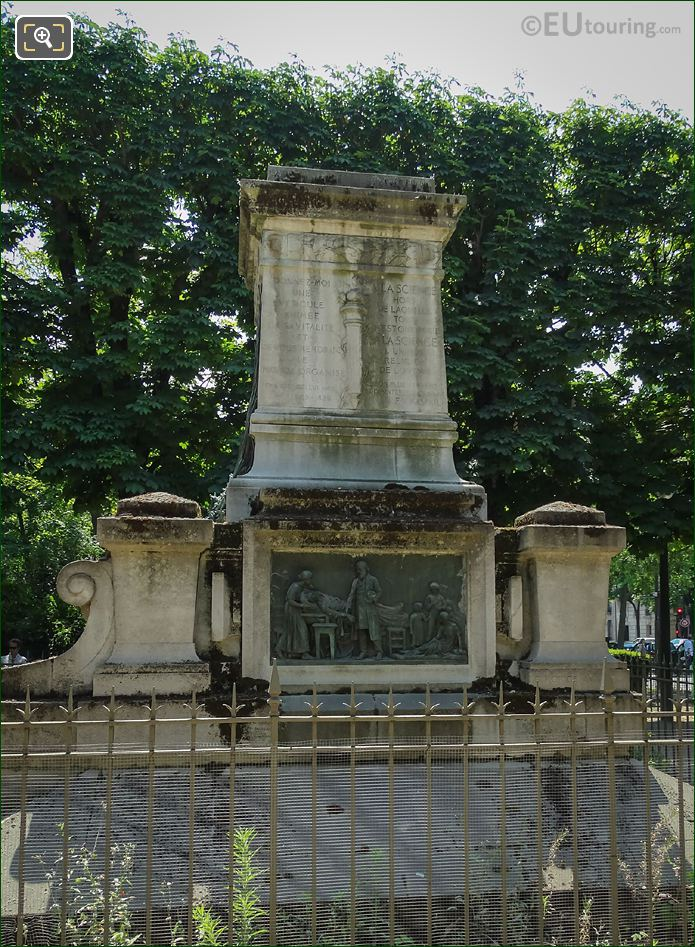 Northern Bas Relief And Raspail Monument Square Jacques Antoine