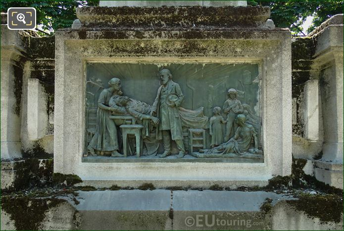 North Side Bronze Bas Relief On Raspail Monument