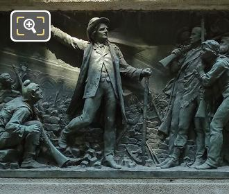 South Side Bronze Bas Relief By Leopold Maurice