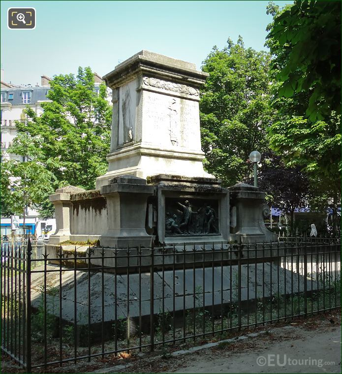 Southern Bas Relief And Raspail Monument In Square Jacques Antoine