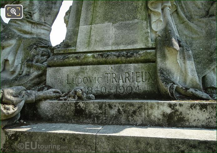 Inscription On Ludovic Trarieux Monument