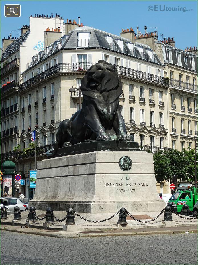 Lion Of Belfort Statue South West Corner