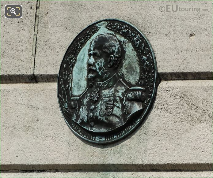 Bronze Medallion On Lion Of Belfort Statue