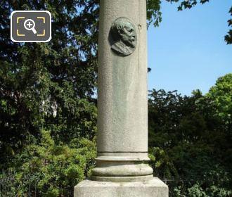 Stone Column With Its Bronze Medallion