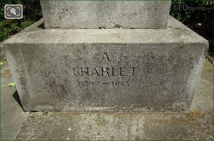 Date Inscription On N T Charlet Monument