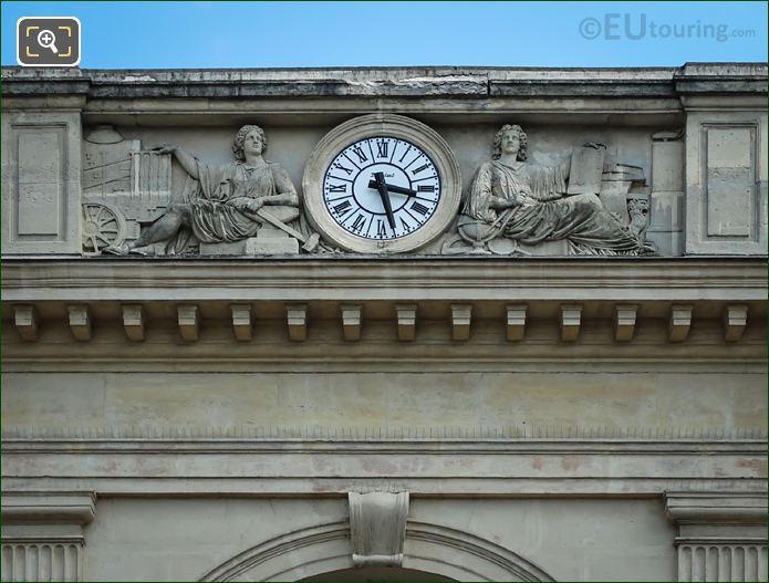 Two Female Allegorical Statues Gare Denfert-Rochereau Facade