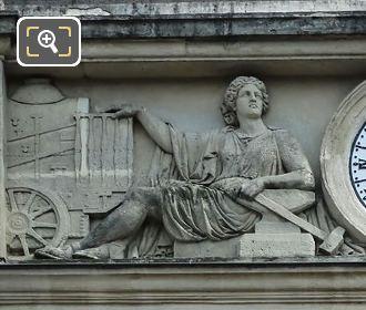 LH Female Allegorical Statues Gare Denfert-Rochereau Facade
