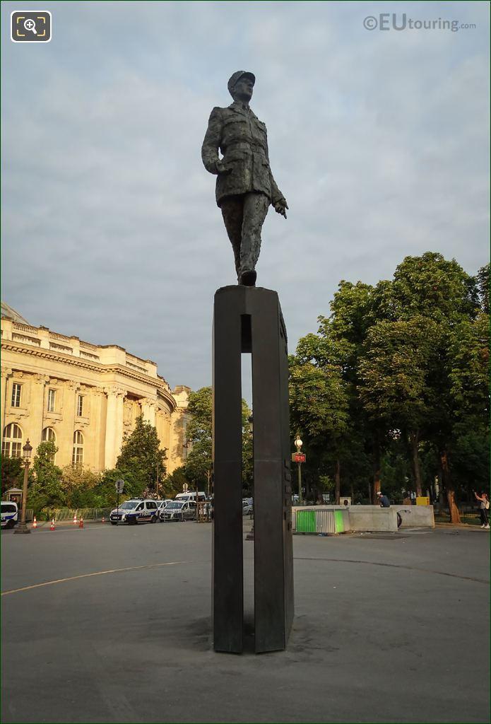 Charles De Gaulle Statue On Pedestal