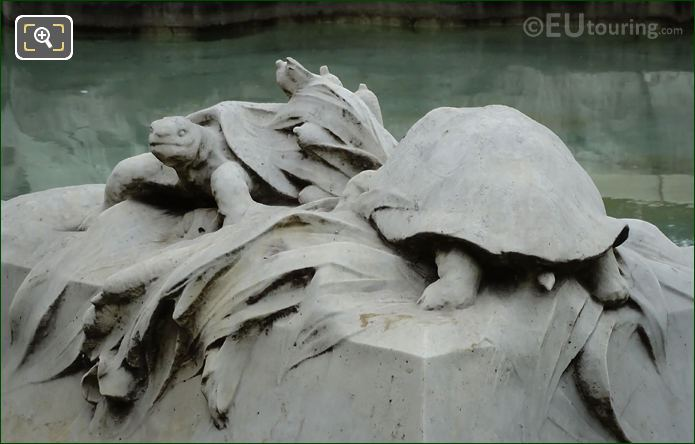 Sculpted Turtles Fontaine Miroir D'eau