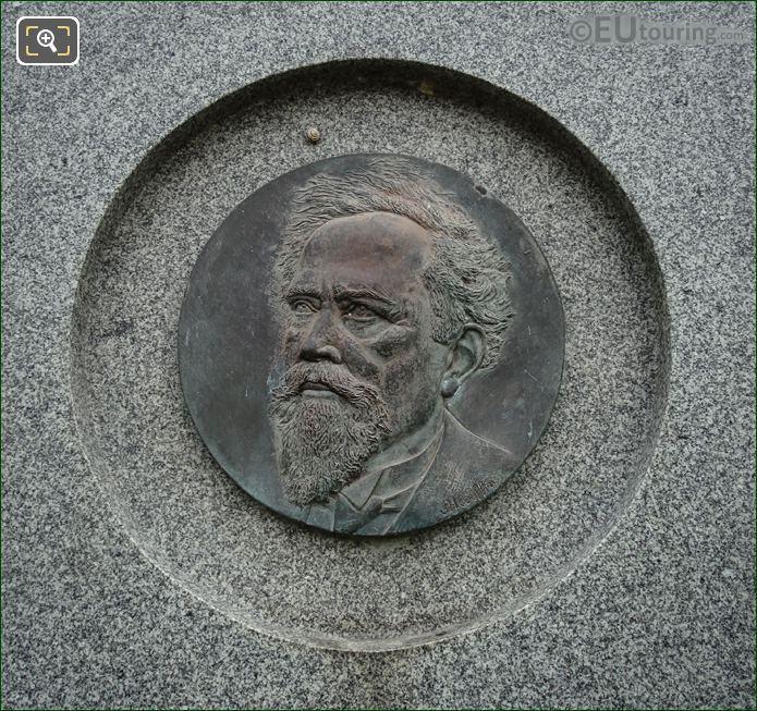 Bronze Medallion Of Jean Baptiste Perrin
