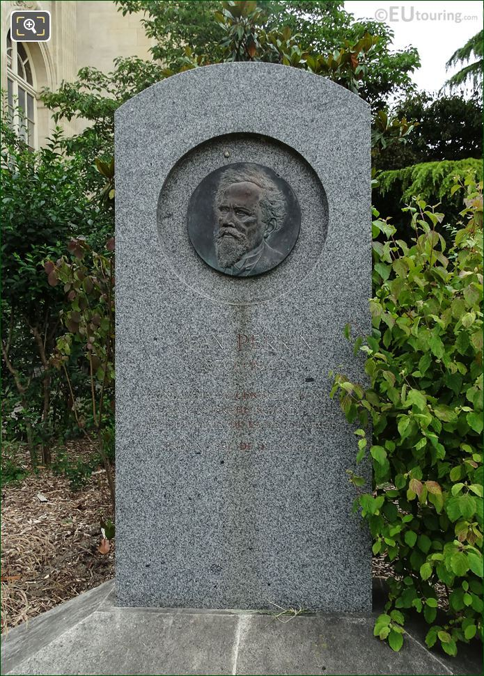 Stone Pillar With Bronze Medallion Of Jean Perrin