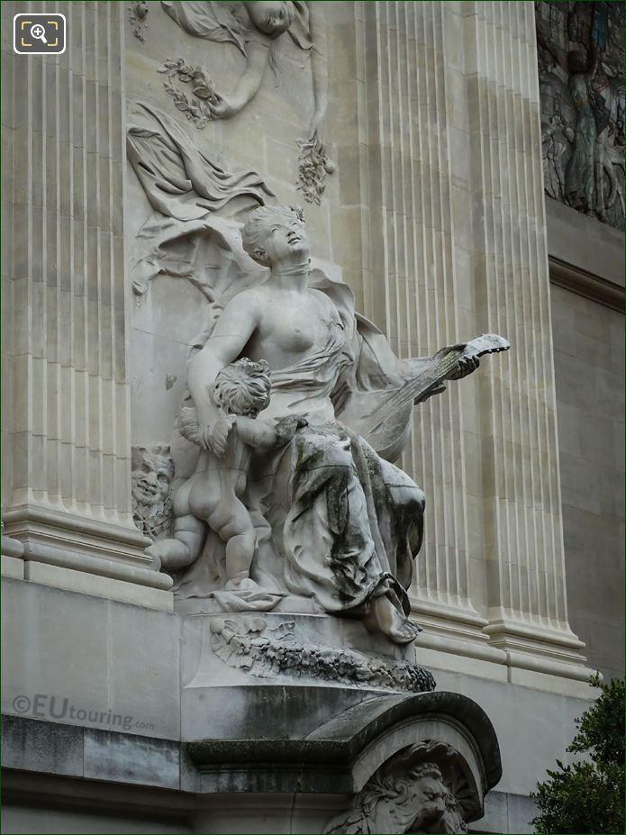 La Musique Statue Side View