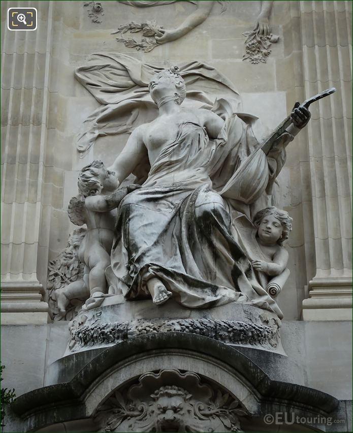 La Musique Statue By Edme Anthony Paul Noel