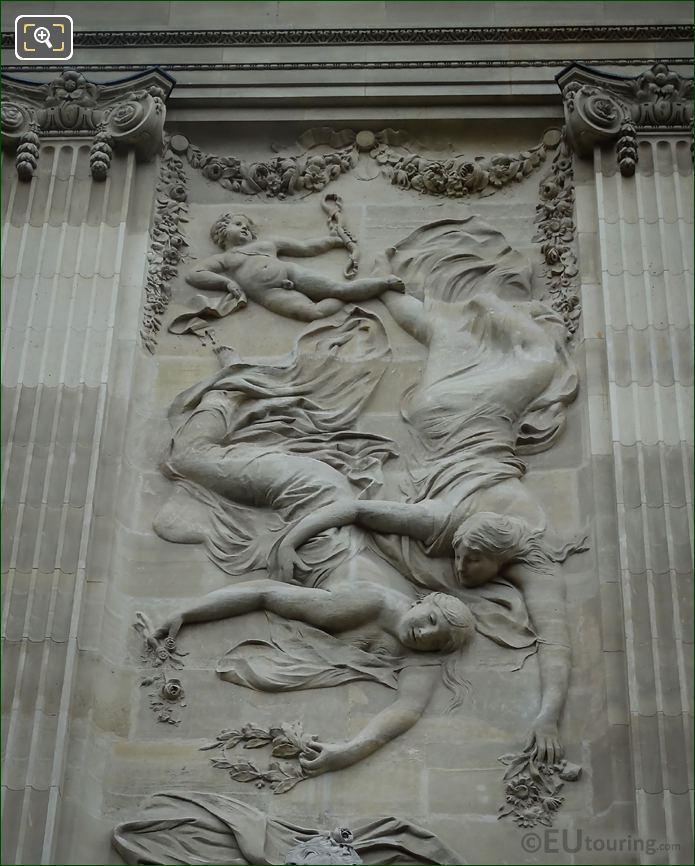 Bas-Relief Above La Musique Statue