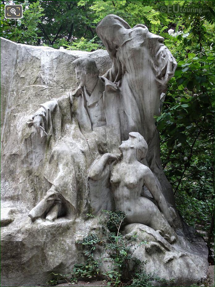 Alfred De Musset Sculpture Le Reve Du Poete