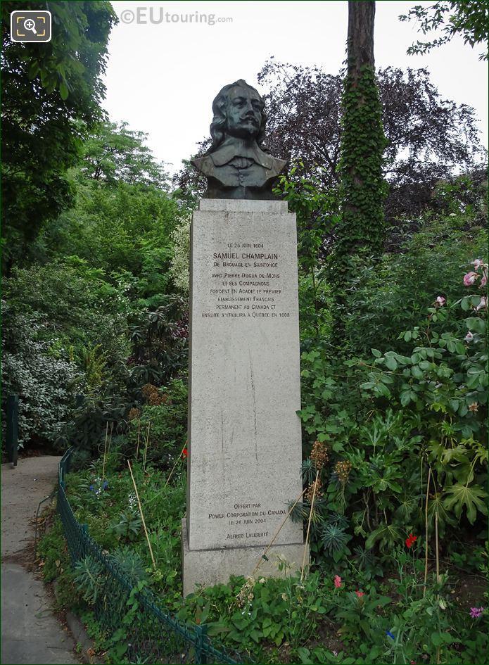 Samuel Champlain Bust Statue By Artist Alfred Laliberte