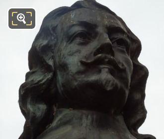 Samuel Champlain Bust Jardin De La Nouvelle France
