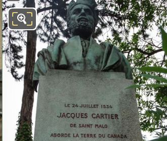 Bronze Bust Statue Of Jacques Cartier
