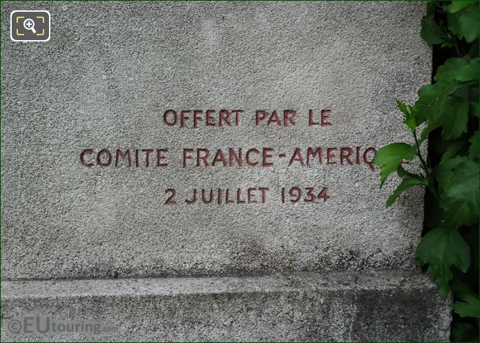2nd July 1934 Inscription On Jacques Cartier Monument