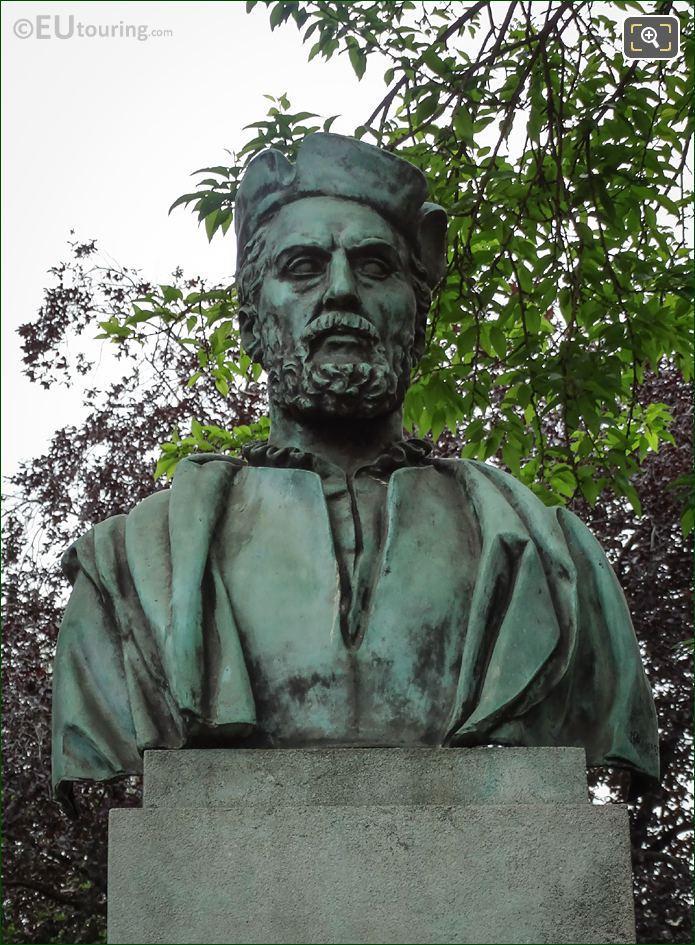 The Bronze Jacques Cartier Bust Statue Paris