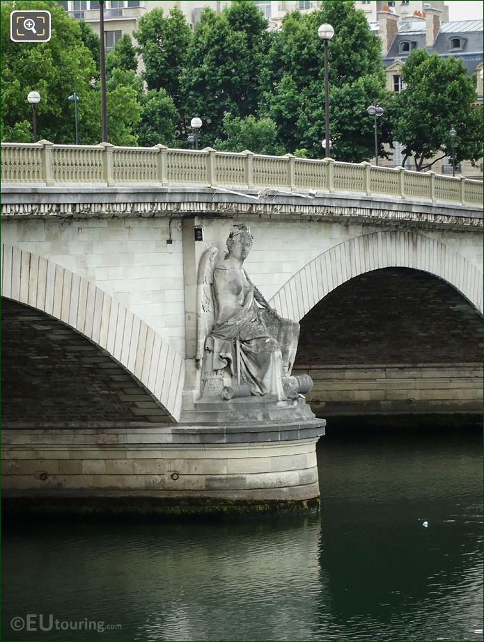 1853 Land Victory Statue Pont Des Invalides