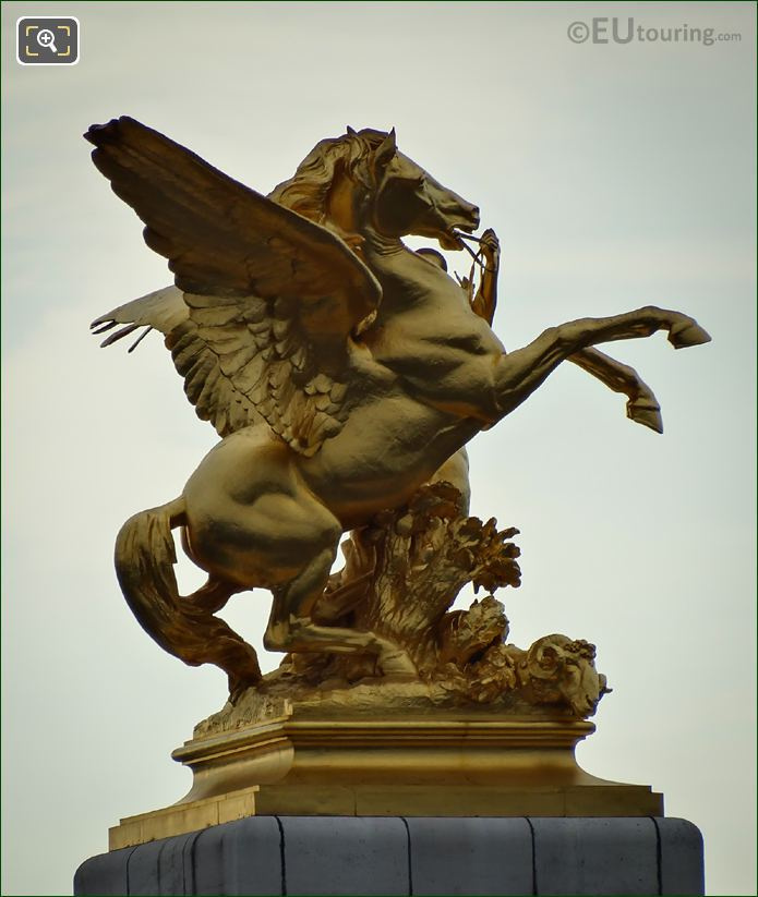 Pont Alexandre III Pegasus Statue South West Corner