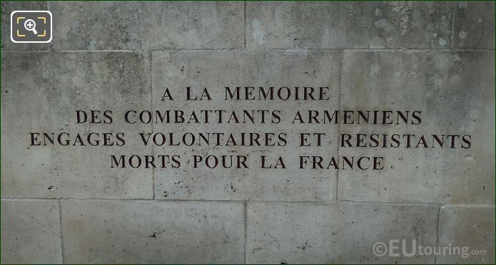 2nd French Inscription Komitas Monument