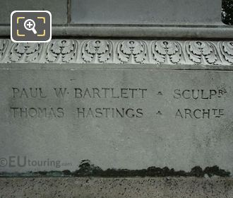 Inscription Thomas Hastings And Paul W Bartlett