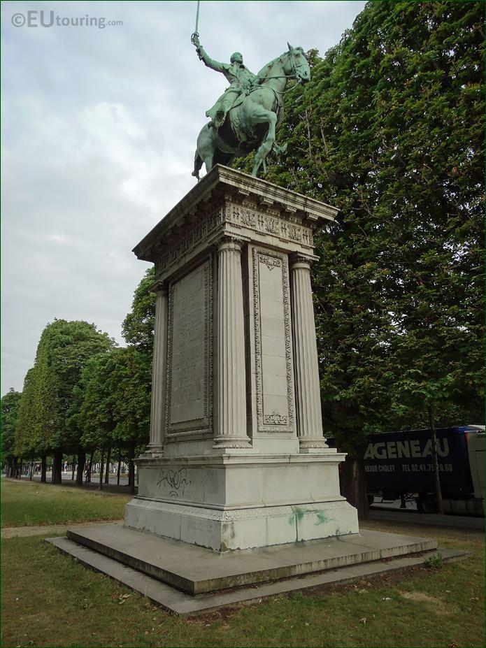 Lafayette Statue On Stone Pedestal