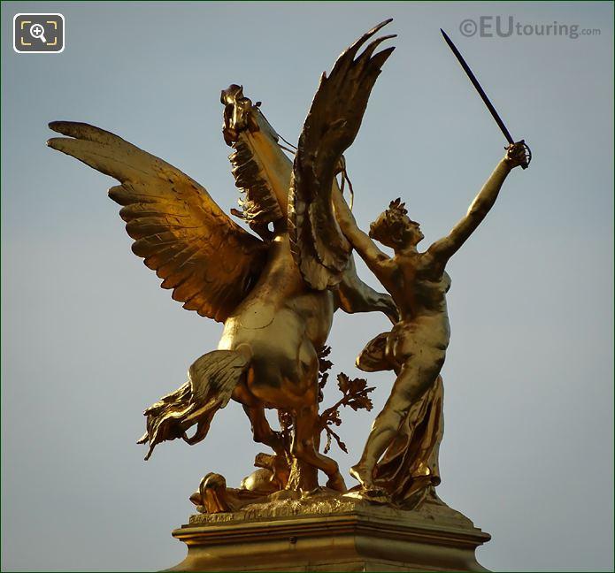SE Golden Winged Horse Statue Pont Alexandre III
