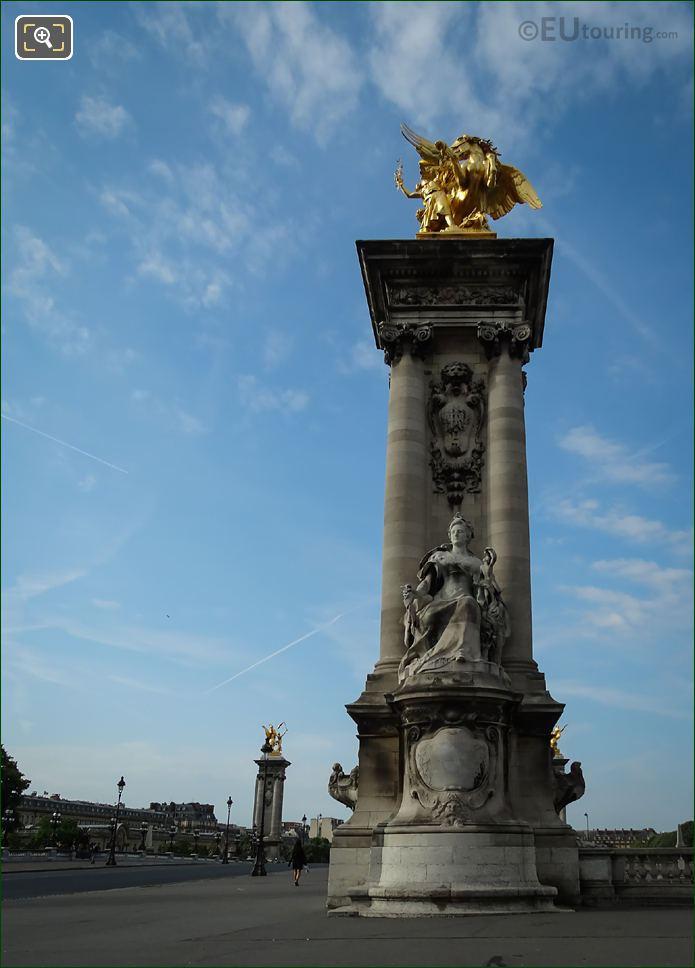 Pont Alexandre III NW Corner Renommee Des Sciences Statue
