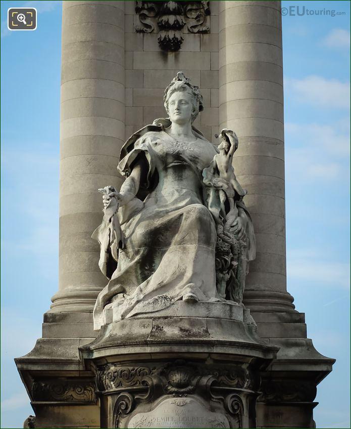 La France Contemporaine Statue By Gustave Michel