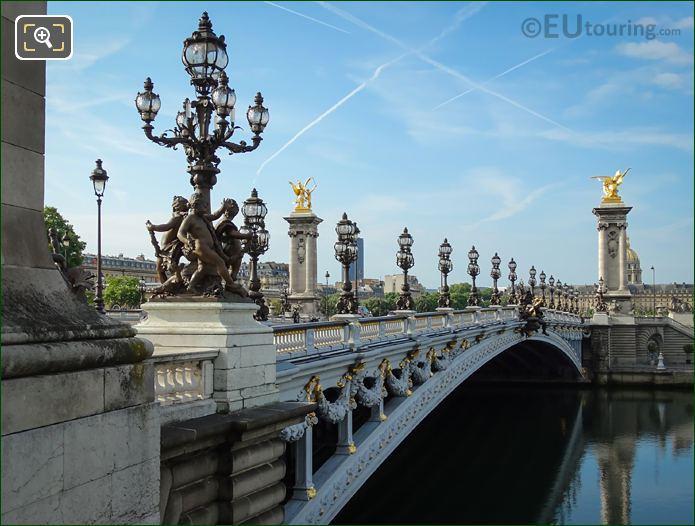 Pont Alexandre III Westside Lamp Post Candelabras