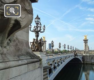 Lamp Posts Pont Alexandre III Western Side