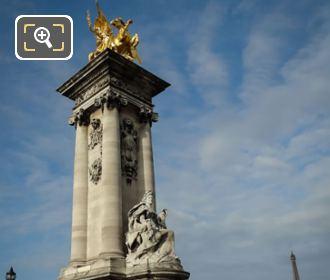 Renommee Des Sciences Pont Alexandre III NW Column