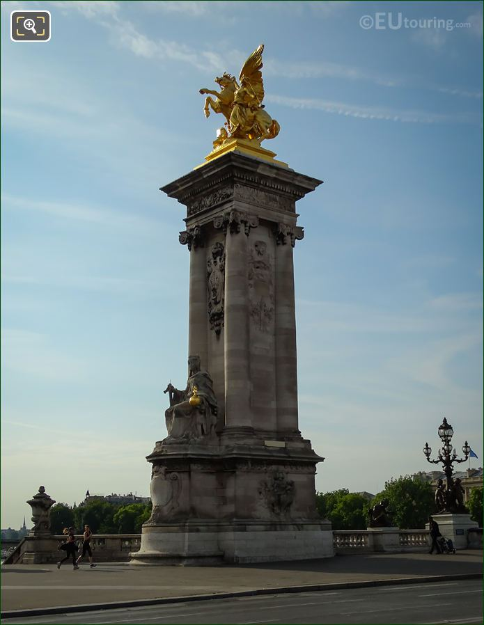 Pont Alexandre III North East Column Golden Statue