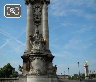 Pont Alexandre III NE Column Statue France De Charlemagne