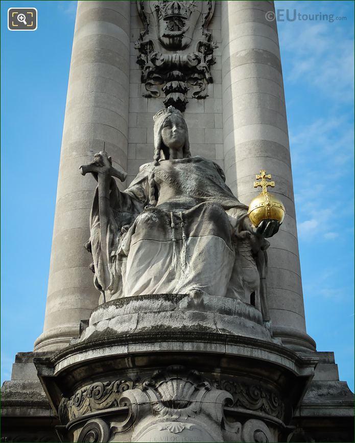 France De Charlemagne Statue By Alfred Lenoir