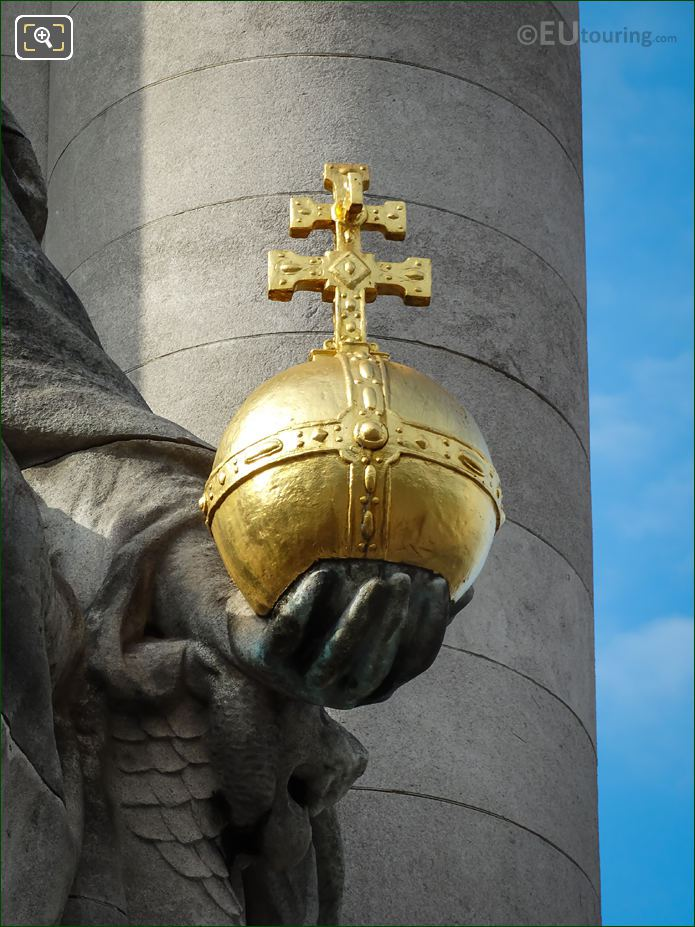 Golden Globus Cruciger On France De Charlemagne
