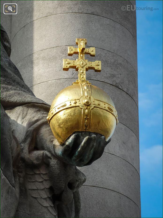 Golden Globus Cruciger On France De Charlemagne