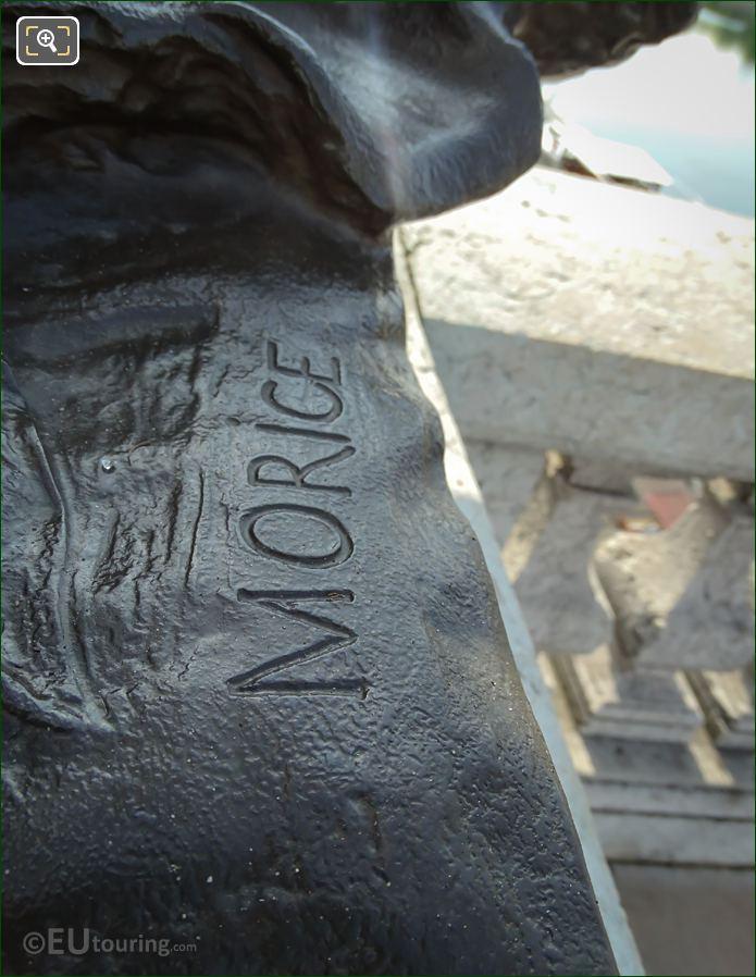 Morice Inscription On Fillette a la Coquille Statue