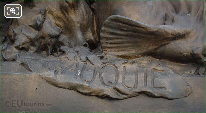 Gauquie Inscription NE Les Amours Candelabra