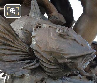 Candelabras Bronze Fish NE Corner Pont Alexandre III