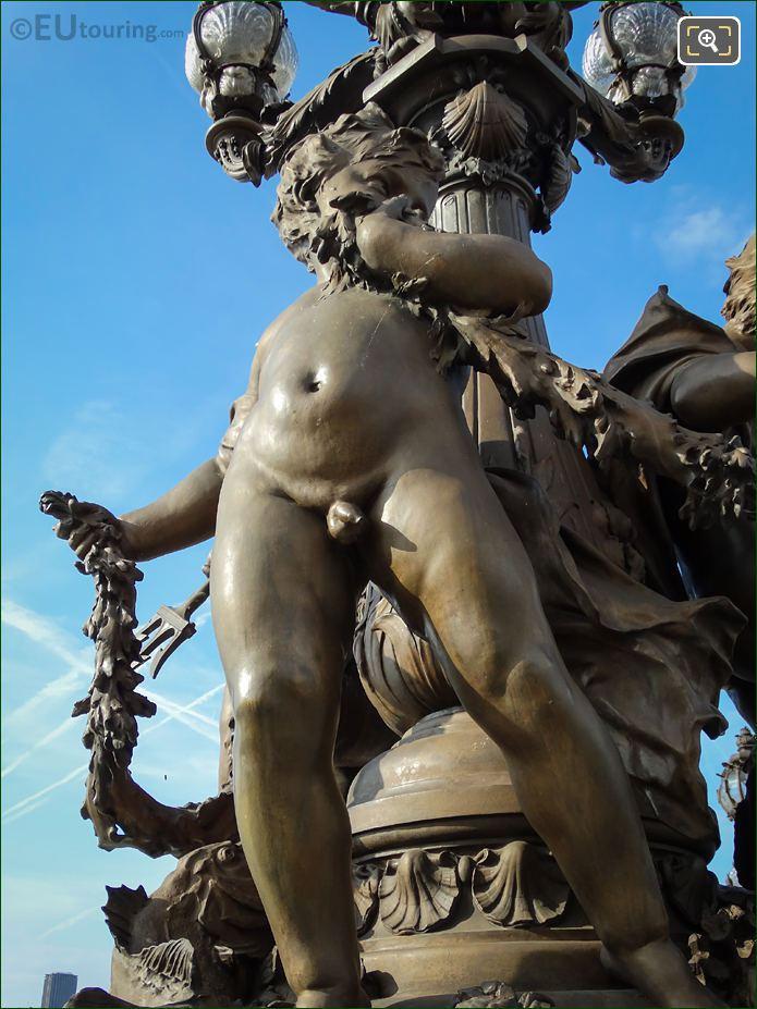 Bronze Cupid Pont Alexandre III NE Candelabra