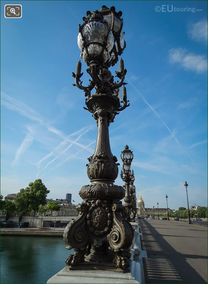 Art Nouveau Lamp Posts Pont Alexandre III