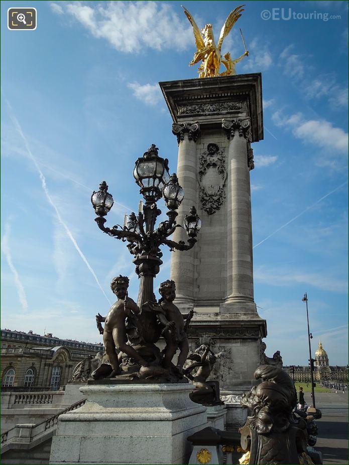 Les Amours Candelabra Pont Alexandre III SE Corner