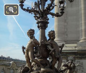 Les Amours Candelabra With Bronze Cupids