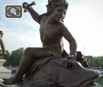 Pont Alexandre III Statue Child With Fish