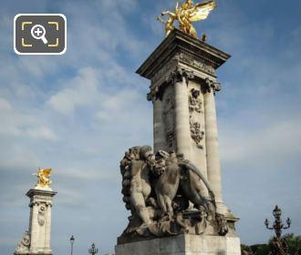 Pont Alexandre III SE Column Renommee Du Commerce